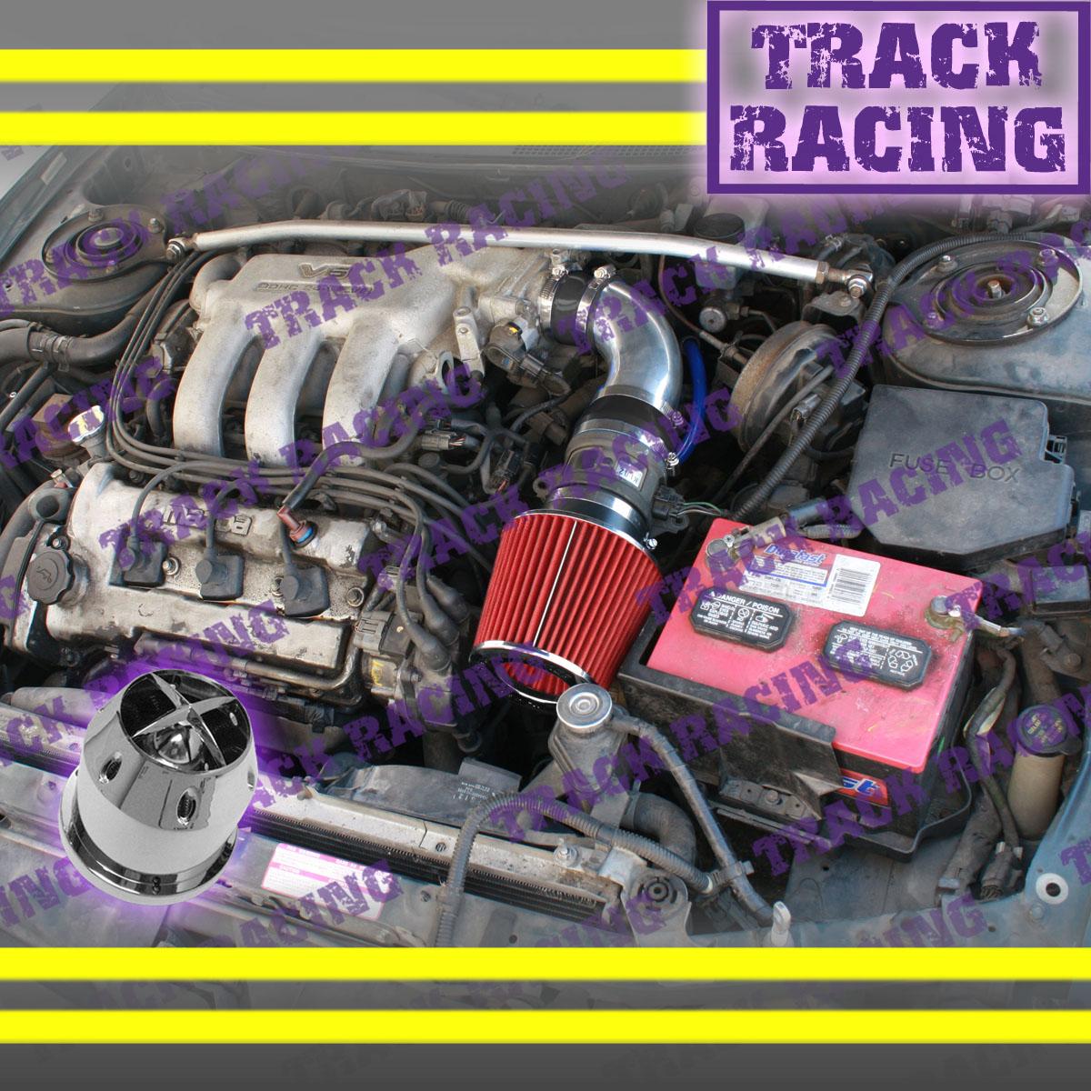 93 94 95 96 97 FORD PROBE GT\MAZDA MX6\626\MX-6 2.5L V6 AIR INTAKE KIT+CHF Red