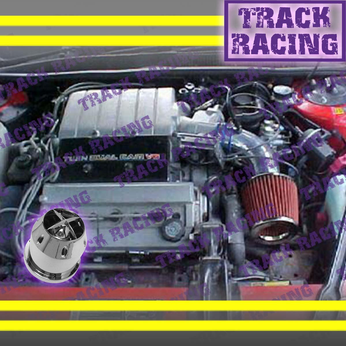 1992 1993 1994 1995 PONTIAC BONNEVILLE 3.8L V6 AIR INTAKE KIT+CHF Black Red