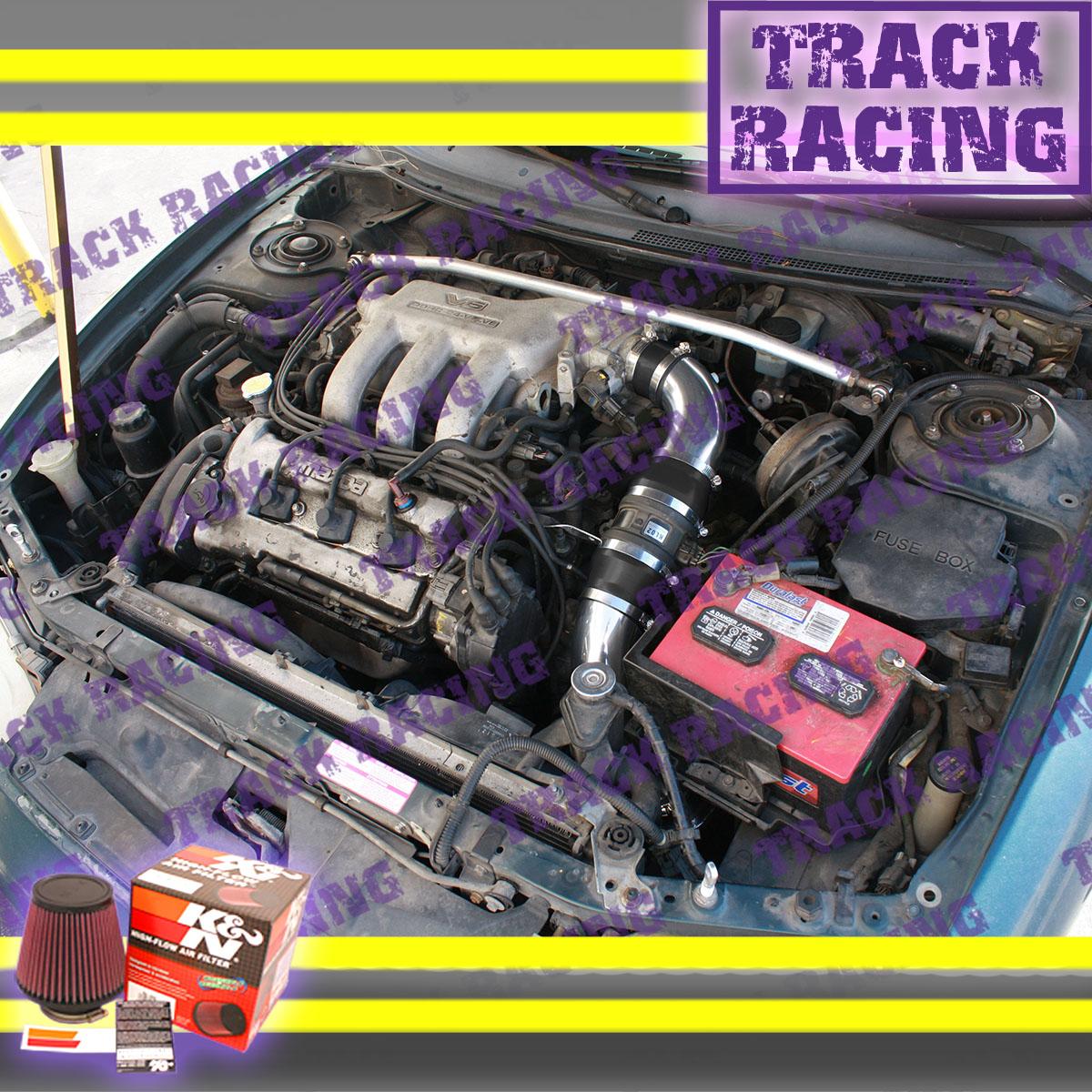 93 94 95 96 97 FORD PROBE GT MAZDA MX6 626 MX-6 2.5L V6 AIR INTAKE KIT Black Red