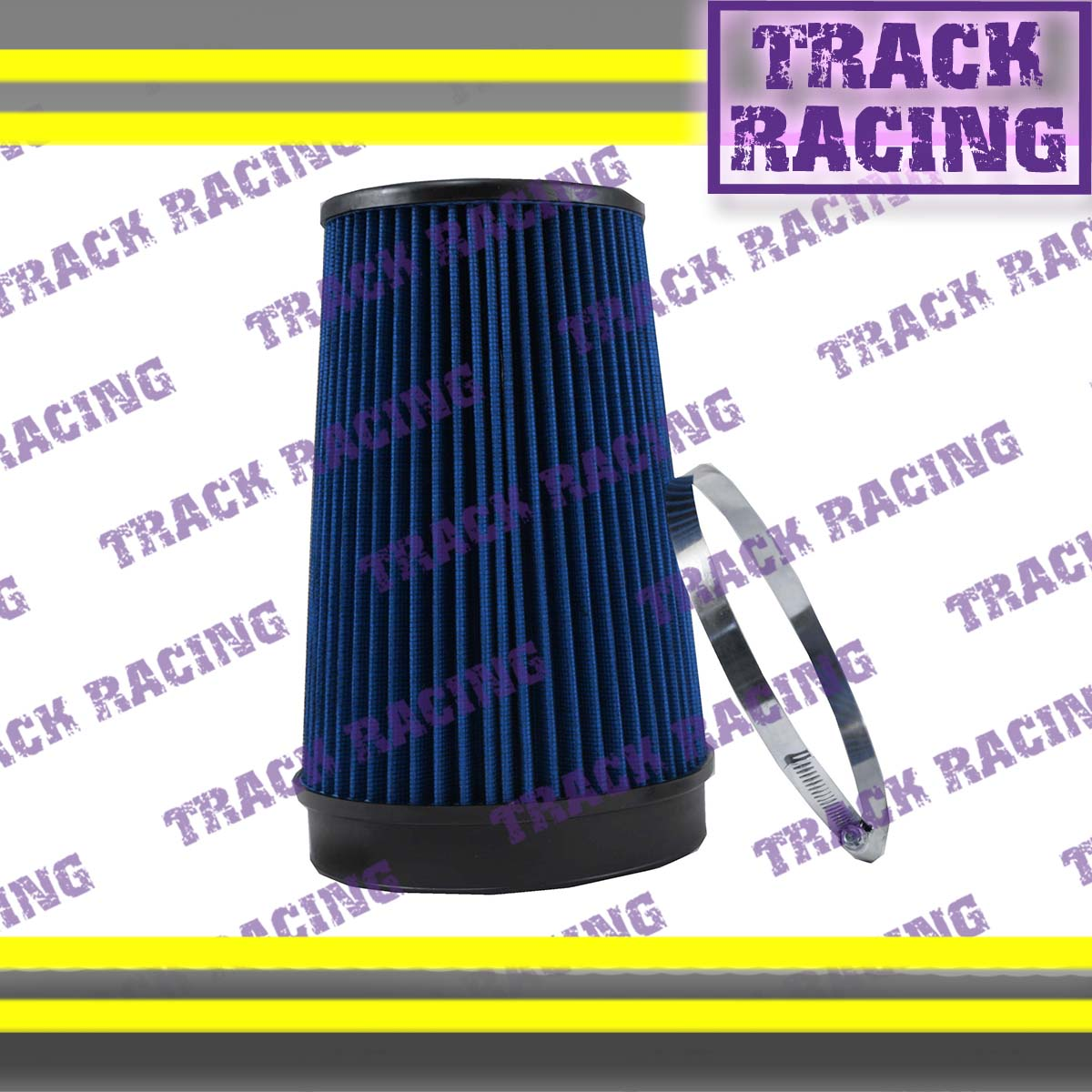 """UNIVERSAL 6 INCHES 6/"""" 152mm DIAMETER TRUCK COLD AIR INTAKE DRY FILTER 2007 Blue"""