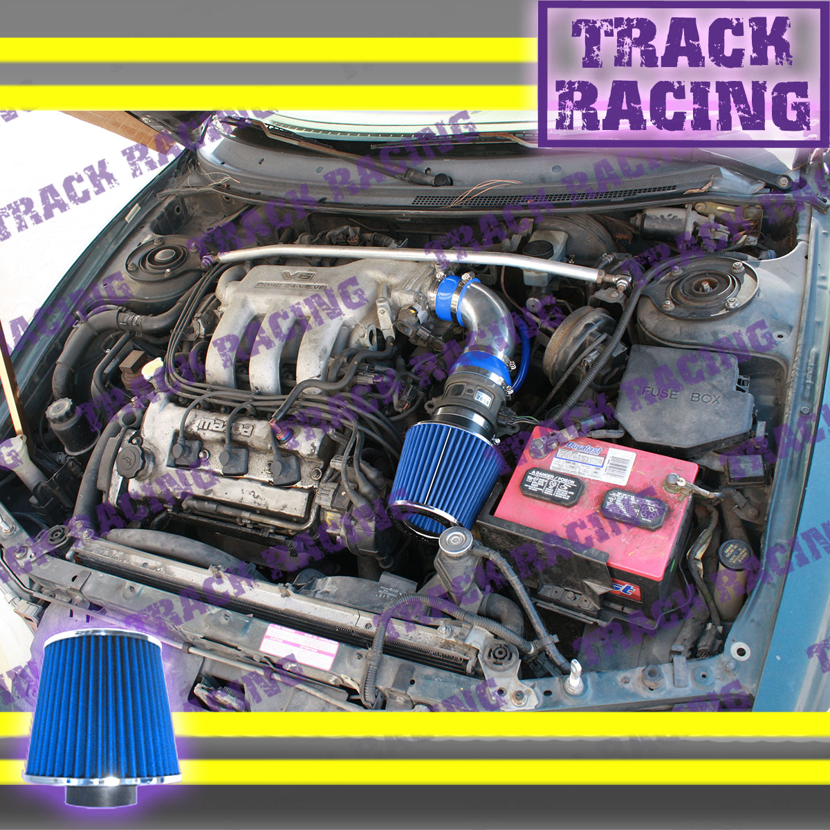 details about 93 94 95 96 97 ford probe gt mazda mx6 626 2 5l v6 air intake kit blue tb 1991 ford ranger fuse box diagram ford probe parts partsgeek com