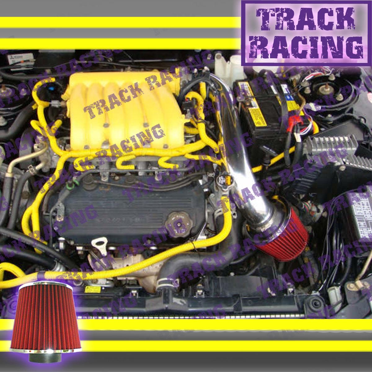 95-00 DODGE AVENGER CHRYSLER SEBRING 2.0L 2.5L COLD AIR INTAKE KIT Black Red