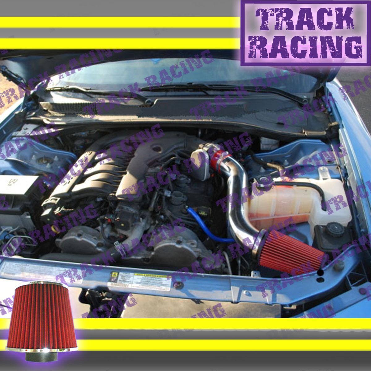 """3/"""" BLACK Cold Air Intake System 08-10 Challenger 3.5L V6 Filter For 05-10 300"""